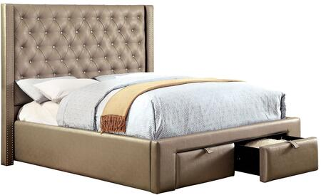 Furniture of America CM7180EKBED Corina Series  King Size Bed