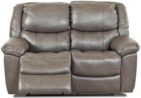 Klaussner CIMARRONRLS Cimarron Series Bonded Leather Reclining with Wood Frame Loveseat