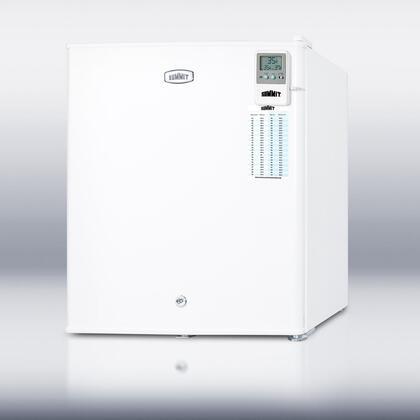 Summit FFAR22LW7MED  Compact Refrigerator with 1.6 cu. ft. Capacity
