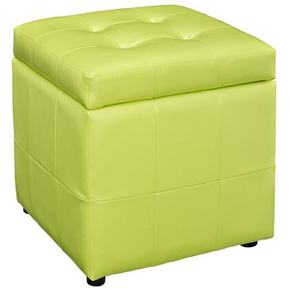 Modway EEI1044LGN Volt Series Faux Leather Wood Frame Ottoman