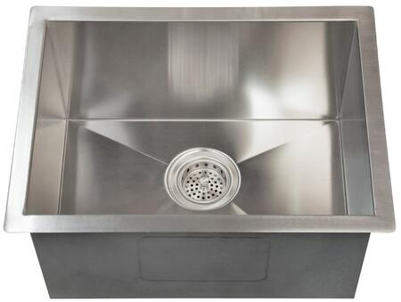 """Barclay PSSSB206 Sabrina X"""" Rectangular Undermount Prep Sink with Solid 16, 304 Grade Gauge Metal Construction, Zero Radius Corners, Wide Lip, Mounting Clips and Template: Matte Stainless Steel Finish"""