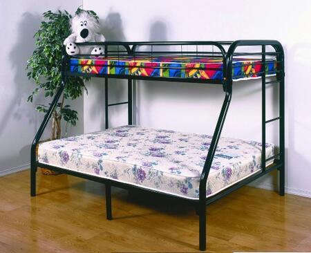 Donco 45024BK Childrens Full Size Bunk Bed