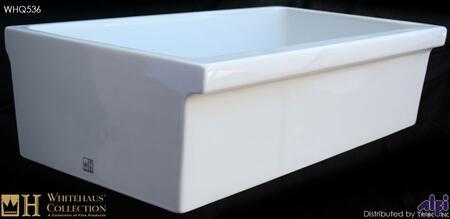 "Whitehaus WHQ536X 36"" Quatro Alcove Reversible Fireclay Farmhouse Kitchen Sink in"