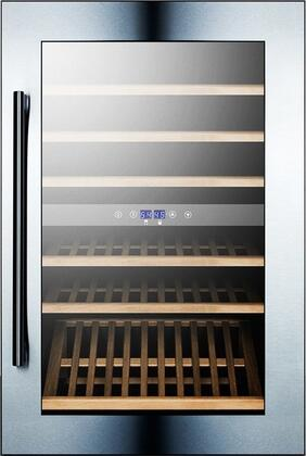 "Summit VC60D 23.25"" Freestanding Wine Cooler, in Stainless Steel"