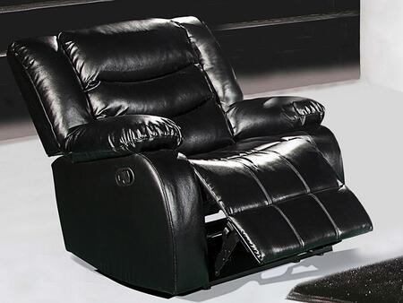 "Meridian Gramercy 644-C 30"" Chair with Top Quality Bonded Leather Upholstery, Rocker Reclining and Removable Backs in"