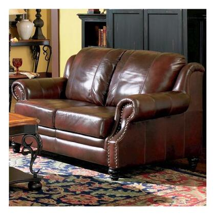 Coaster 500662 Princeton Series Leather  with Wood Frame Loveseat