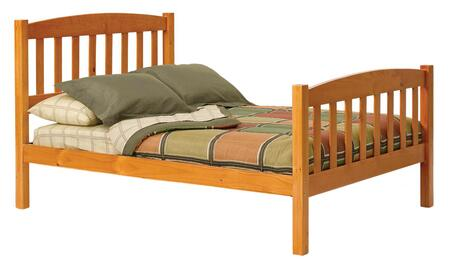 Chelsea Home Furniture 364346X Full Mission Bed, with Plantation-grown Pine, Rustic Style, and Hand Stained Finish in Honey