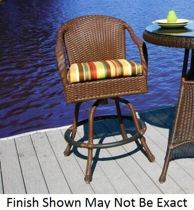 Tortuga LEX-BARC Lexington Bar Chair With Outdoor All Weather Wicker, Powder Coated Aluminum Frames, 100% Spun Polyester Cushions & In
