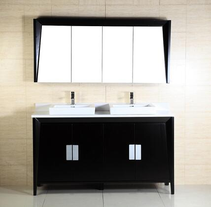 Bellaterra Home 500410 Vanity and Mirror Set