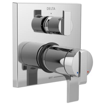 Ara T27T867 Delta Ara: Angular Modern TempAssure 17T Series Valve Trim with 3-Setting Integrated Diverter in Chrome