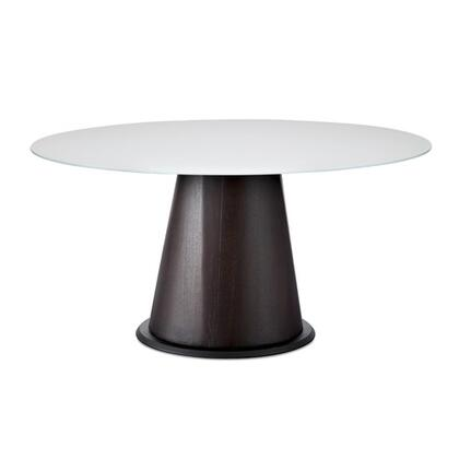 Domitalia PALIO.T.D151. Palio Round Dining Room Table with Veneered Post and Top