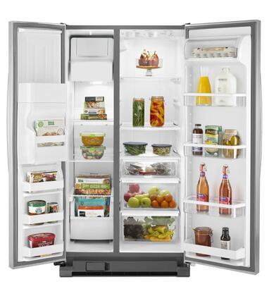 Whirlpool Wrs331fddm 33 Inch Side By Side Refrigerator In