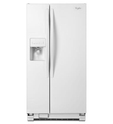 "Whirlpool WRS322FDAW 33""  Side by Side Refrigerator with 21.2 cu. ft. Capacity in White"