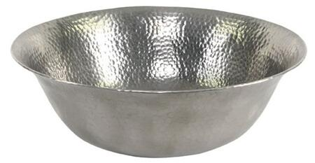 Above Counter Lavatory Basin with Hammered Pewter Finish (Regular View)