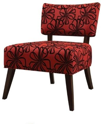 Acme Furniture 59391 Able Series Slipper Fabric Wood Frame Accent Chair