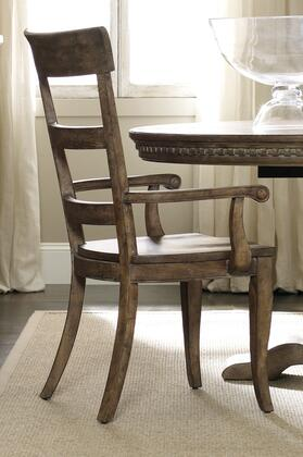 """Hooker Furniture Sorella Series 5107-753 42"""" Traditional-Style Dining Room Ladderback Chair with Wood Frame and Tapered Legs in Taupe (Sold in 2 Chairs per Order/Priced Individually)"""