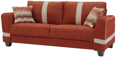 """Glory Furniture 81"""" Sofa with Pocketed Coil Foam Encased Seat Cushions, Throw Pillows and Fabric Upholstery in"""