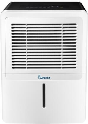 Impecca IDMx Portable Dehumidifier with Pump, x Pints Dehumidification per Day, Comfort Mode, Digital LED Display, Bucket Full Indicator Light and External Drain Connector, in White