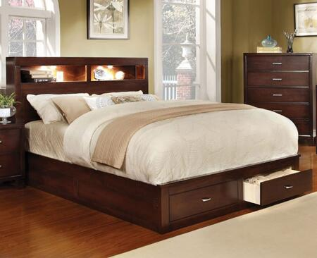 Furniture of America CM7291CHEKBED Gerico II Series  Eastern King Size Bed