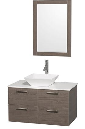 Wyndham Collection WCR410036GOWHD28WH