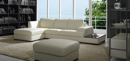 VIG Furniture VGBNBO3893 Divani Casa Series Sofa and Chaise Leather Sofa
