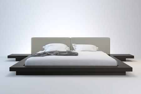 Modloft HB39AQWENGRY Worth Series  Queen Size Platform Bed