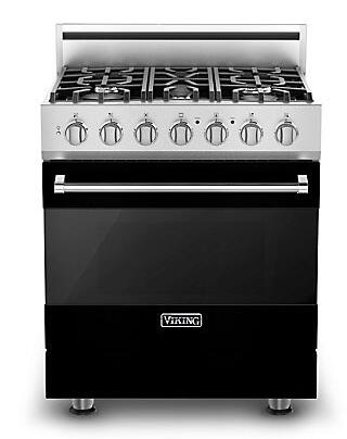 "Viking RVGR3305BBKLP 30"" Gas Freestanding Range with Sealed Burner Cooktop, 4.0 cu. ft. Primary Oven Capacity, in Black"