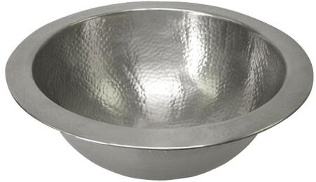 Small Round Undermount Basin in Hammered Pewter Finish