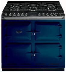 AGA A64LPGSTBLU  Dual Fuel Freestanding Range with Sealed Burner Cooktop, 4.5 cu. ft. Primary Oven Capacity, in Royal Blue