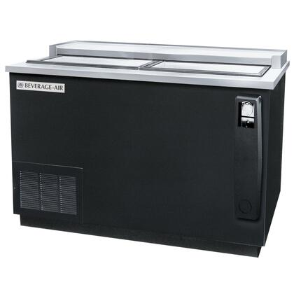 "Beverage-Air DW4 50"" Deep Well [Frosty Brew] Bottle Cooler, 2 Lids and 3 Dividers, 13.3 cu.ft. Capacity, [Black] Exterior and Bottom Mounted Compressor"