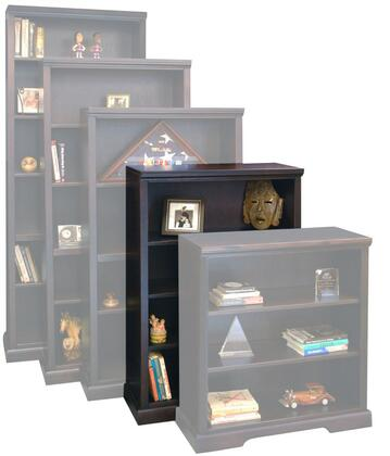 Legends Furniture BW6848DNC Brentwood Series Wood 3 Shelves Bookcase