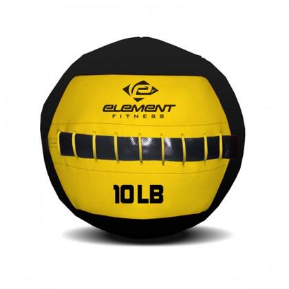"""Element Fitness E-100-WWB Commercial Wall Ball with 45"""" Circumference in Yellow/Black"""