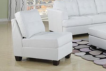 Acme Furniture 15802A Diamond Series Bonded Leather with Wood Frame in White