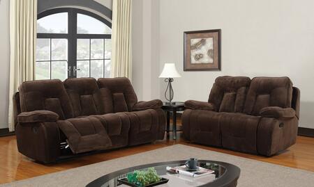 Global Furniture USA U3090ChampionChocSLR Living Room Sets