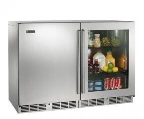Perlick HP48FRS1L3R Signature Series Counter Depth Side by Side Refrigerator with 11 cu. ft. Capacity