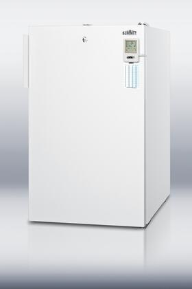 """Summit FS407LBIMEDDTADA 20"""" Medical Series Counter Depth Freezer with 2.8 cu. ft. Capacity in White"""