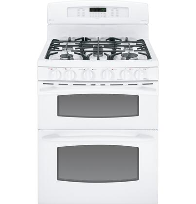 "GE Profile PGB995DETWW 30"" Profile Series Gas Freestanding Range with Sealed Burner Cooktop, 4.3 cu. ft. Primary Oven Capacity, Oven in White"