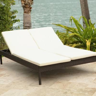 Source Outdoor SO-093-32 Manhattan Double Chaise Lounge