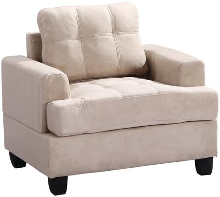 Glory Furniture G511AC Suede Armchair in Beige