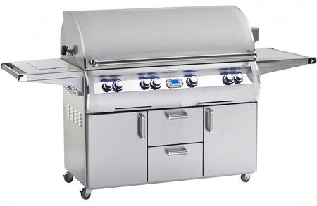 FireMagic E1060S-4E1X-62 Echelon Diamond Series Freestanding X Grill,1056 sq. in. Cooking Area with Hot Surface Ignition a Rotisserie Backburner and Cast E Burners: Stainless Steel