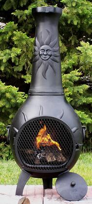 The Blue Rooster Company ALCH029 Sun Stack Chiminea Outdoor Fireplace
