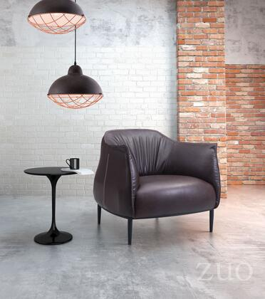 "Zuo 9808 Julian Collection 32"" Occasional Chair with Slim Wood Legs, and Leatherette Upholstery"