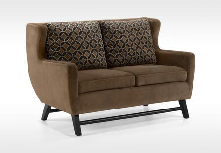 Armen Living LC10382BR Midtown Series  with Fabric Frame Loveseat