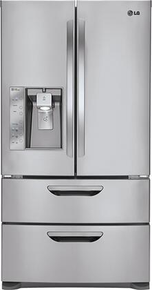 LG LMX31985ST  French Door Refrigerator with 30.5 cu. ft. Total Capacity 4 Glass Shelves