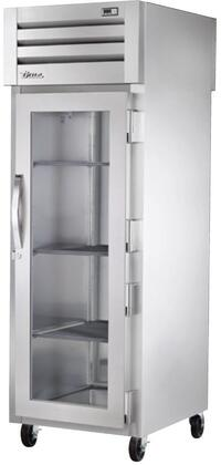 True STG1RPT-1S Spec Series Pass-Thru Refrigerator with 31 Cu. Ft. Capacity, LED Lighting and Glass Front and Solid Rear Swing-Doors