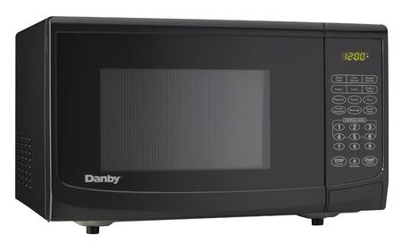 """Danby DMW7700 18"""" Counter Top Microwave with 0.7 cu. ft. Capacity, 700 Cooking Watts, 10 Power Levels, Easy to Read LED Timer/Clock, Automatic Oven Light and Turntable, and 3 Specialty Programs in"""