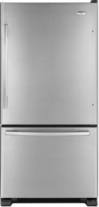 Whirlpool GB9FHDXWS  Bottom Freezer Refrigerator with 18.5 cu. ft. Capacity in Stainless Steel