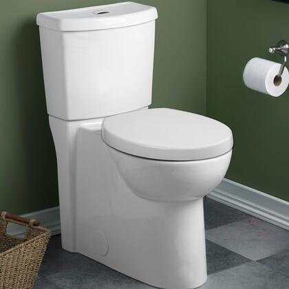American Standard Studio Concealed Trapway Dual Flush Right Height 1.1 GPF 1.6 GPF Elongated 2 Piece Toilet 2794204 (1)