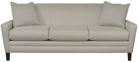 "Bassett Furniture Drake Collection 3923-62FC/FC155-X 83"" Sofa with Fashionable Canted Arm, Top Stitch, Box Seat Cushions, Sharp Base Border"