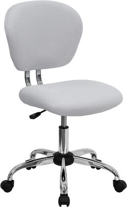 """Flash Furniture H2376FWHTGG 23.5"""" Adjustable Contemporary Office Chair"""